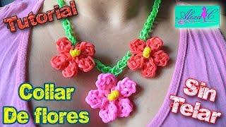 getlinkyoutube.com-♥ Tutorial: Collar de Flores de gomitas (sin telar) ♥