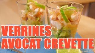 getlinkyoutube.com-Recette de verrine aux crevettes et avocat avec un zeste de citron