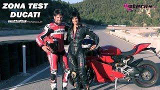 getlinkyoutube.com-Ducati Panigale 1299S test by Mujeres Moteras & Carlos Checa