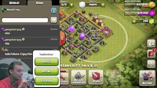 getlinkyoutube.com-NOOBARMY KLANEN! | Clash of Clans | Norsk Mobilspill