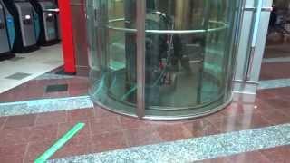 getlinkyoutube.com-AMAZING 1992 KONE M Fast Traction Scenic Elevator/Lift@Plaza Shopping Center, Salo, Finland