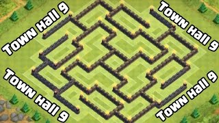 getlinkyoutube.com-Town hall 9 (TH9) Amazing Farming Base [The Maze]