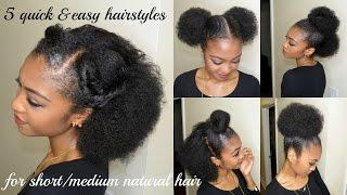 getlinkyoutube.com-5 QUICK & EASY hairstyles for SHORT/MEDIUM NATURAL HAIR | DisIsReyRey