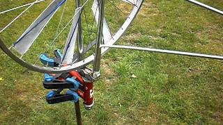 Bicycle wheel windmill