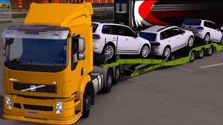 getlinkyoutube.com-Euro Truck 2 Brasil: Volvo VM transportando carros