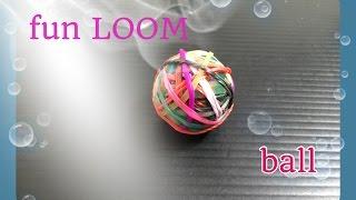 getlinkyoutube.com-FUN LOOM  ball   ファンルームで作る簡単ボール  作り方