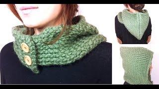 getlinkyoutube.com-Cómo tejer un cuello - capucha en telar circular