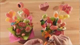getlinkyoutube.com-Maceta con flores de chuches