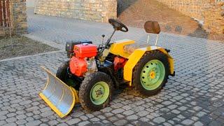 getlinkyoutube.com-Самодельный трактор для уборки снега Tractor hydraulic