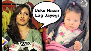 Soha Ali Khan Reaction On Daughter Inaya Khemu Cute Pic width=