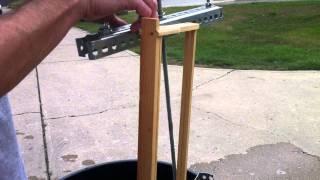 getlinkyoutube.com-homebuilt 2 frame honey extractor