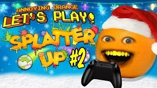 getlinkyoutube.com-Annoying Orange Let's Play Splatter Up #2: Merry Splatmas!