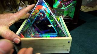 getlinkyoutube.com-Dichroic Boro Glass Infinity Mirror Effect Pyramids 001