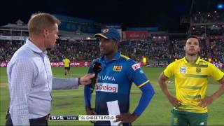 South Africa vs Sri Lanka - 1st T20 - Coin Toss