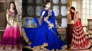 getlinkyoutube.com-Latest Long Anarkali Dress Designs Patterns For All Occassions Wedding Marriage Shaadi & Others