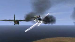 getlinkyoutube.com-Il-2 Sturmovik - Wipeouts and close calls