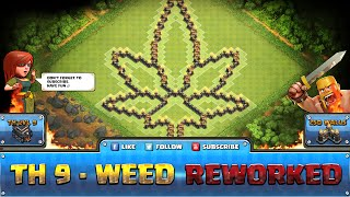 getlinkyoutube.com-★ Clash of Clans Troll Base ★ TH9 - Weed Defense, Hybrid