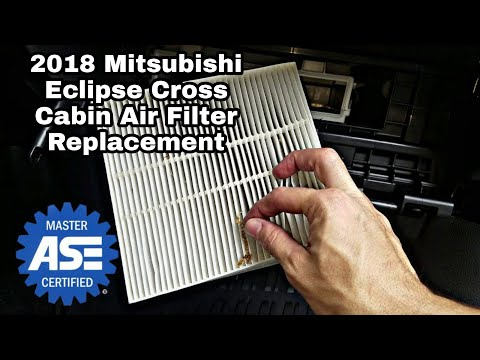2018 Mitsubishi Eclipse Cross Cabin Filter Replacement
