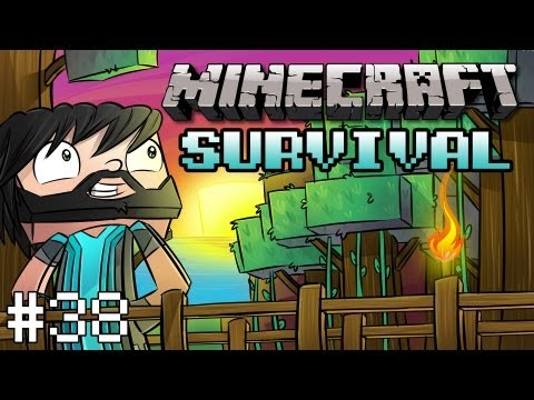 Minecraft: Survival Let's Play Ep. 38 - Portal Issues, Nether Rail Transport