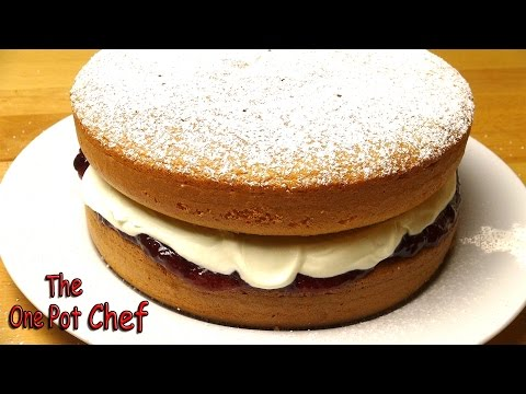 Sponge Cake with Jam and Cream - RECIPE