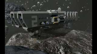getlinkyoutube.com-Space Engineers - AutoMineShip & ArtilleryShip