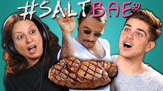 ADULTS REACT TO #SALTBAE MEME COMPILATION (Oddly Satisfying Salt Bae Videos)