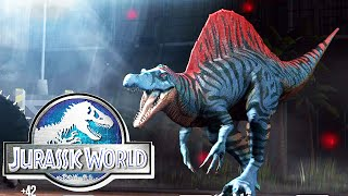 getlinkyoutube.com-Jurassic World The Game: Vs Spinosaurus
