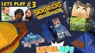 Lets Plays SICK BRICKS Part 3: Exploring Space Hood w/ Berserker Bot & Spaceship (FGTEEV Gameplay)