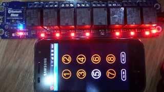 บลูทูธควบคุมอุปกรณ์ USB/Wireless  Relay Module Bluetooth Remote Control 8 Channel (BTC001)
