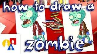 getlinkyoutube.com-How To Draw A Zombie (Plants vs Zombies)