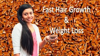 getlinkyoutube.com-Fast Hair Growth लम्बे घने बालों के लिए & Weight Loss (वज़न घटाये) with Flax Seeds (अलसी)