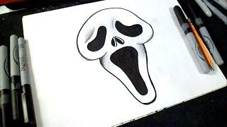getlinkyoutube.com-как рисовать крик лицо   граффити