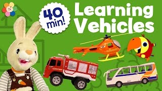 getlinkyoutube.com-Learning Vehicles Children Shows Compilation | Unboxing Kids Toys and Learning Vocabulary for Kids