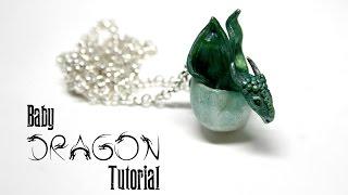 Baby Dragon Egg Polymer Clay Pendant Tutorial | Fantasy Jewellery/Jewelry DIY