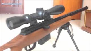 getlinkyoutube.com-Bbs toy sniper rifle with red dot scope