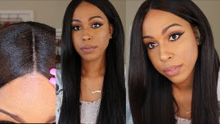 getlinkyoutube.com-Sensationnel Custom Lace Wig - Yaki 30   + Got2b Glued DEMO    Divatress.com