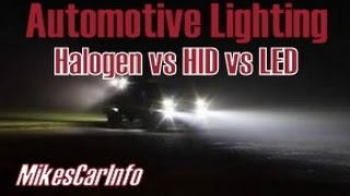 getlinkyoutube.com-Types of Automotive Lighting: Halogen vs HID vs LED