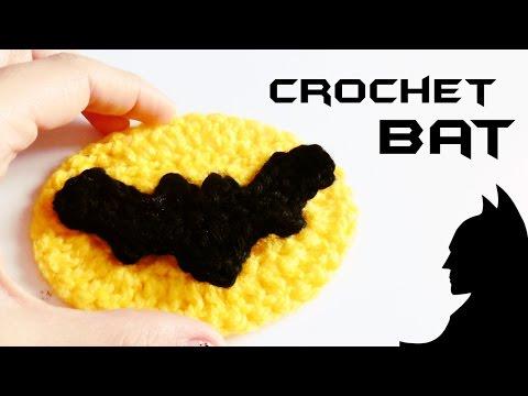 How to crochet a BAT | crochet BATMAN LOGO ♥ CROCHET LOVERS