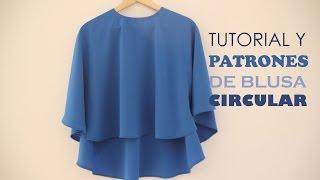 getlinkyoutube.com-Tutorial y patrones: Blusa circular para mujer