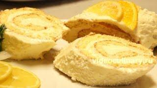 getlinkyoutube.com-Лимонный рулет из бисквитного теста - Рецепт Бабушки Эммы