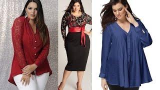 getlinkyoutube.com-Ropa para gorditas  : blusas | Moda 2016 tallas grandes