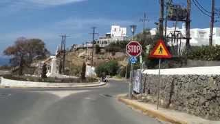 getlinkyoutube.com-Route from Mykonos Airport to hotel Nazos