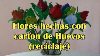 getlinkyoutube.com-ROSAS DE CARTON DE HUEVO ** EGG CARTON ROSES-Manualidades