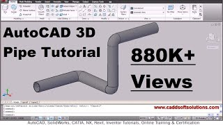 getlinkyoutube.com-AutoCAD 3D Pipe / 3D Piping Tutorial
