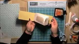 getlinkyoutube.com-Toilet Roll Mini Scrapbook Album Tutorial with a Hinge System