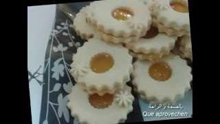 getlinkyoutube.com-حلويات مغربية,حلويات العيد :صابلي بمربى المشمش, galletas sablee con mermelada de albaricoque