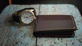 getlinkyoutube.com-Работа с кожей. Портмоне своими руками (handmade leather wallet)