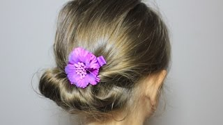 getlinkyoutube.com-かんたん 夏のまとめ髪/ギブソンタック3 Simple Summer updo hairstyle / Gibson tuck