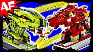 getlinkyoutube.com-KAI vs RATTLA in SPINNER BATTLE ARENA 9456 Lego Ninjago Stop Motion Set Review
