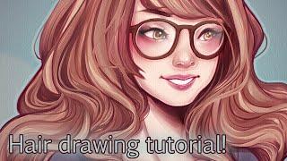getlinkyoutube.com-Tutorial; Drawing Hair!
